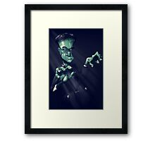 Frankie the monster Framed Print