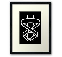 Mgs Exclamation White Print Framed Print