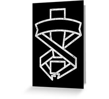 Mgs Exclamation White Print Greeting Card