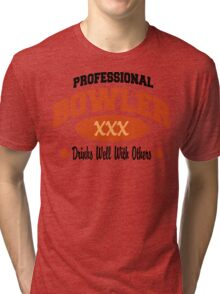 Drinks Well With Others Bowling T-shirt Tri-blend T-Shirt