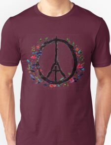 Pray for Paris flowers Sign peace and love T-Shirt