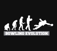 Evolution of Bowling Dark T-Shirt Kids Clothes