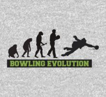 Evolution of Bowling T-Shirt Kids Clothes