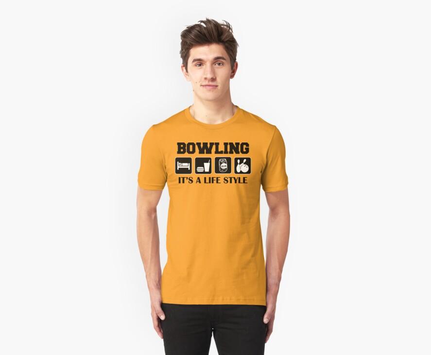 Eat Sleep Bowl Bowling T-Shirt by SportsT-Shirts