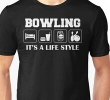 Sleep Eat Drink Beer Bowl Bowling T-Shirt Unisex T-Shirt