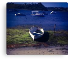 Boats on a lake Canvas Print
