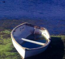 Boats on a lake Sticker