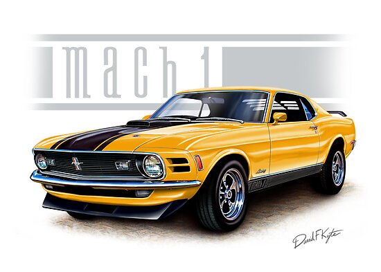Mustang Mach 1 1970 in Grabber Orange by davidkyte