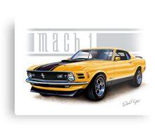 Mustang Mach 1 1970 in Grabber Orange Metal Print