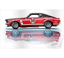 1969 Trans Am Mustang & 2010 Saleen Poster