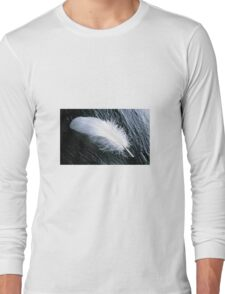 White feather  Long Sleeve T-Shirt