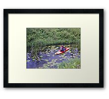Kayaking up the Cuckmere Framed Print