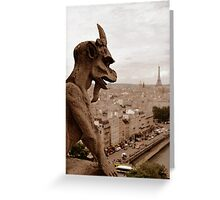 Notre Dame Gargoyle Greeting Card