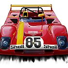 Ferrari 312PB Race Car by davidkyte