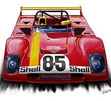 Ferrari 312PB Race Car by davidkyte