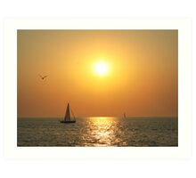 Nautical Sunset Art Print