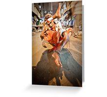 Performer, Red Light District Mumbai Greeting Card