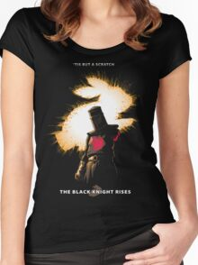 The Black Knight Rises (Text Version) Women's Fitted Scoop T-Shirt