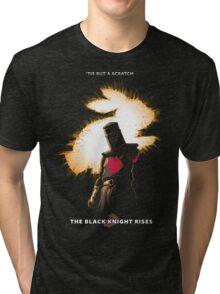 The Black Knight Rises (Text Version) Tri-blend T-Shirt