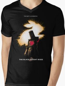 The Black Knight Rises (Text Version) Mens V-Neck T-Shirt