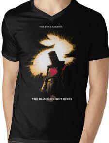 The Black Knight Rises (Text Version) Mens V-Neck T-Shirt