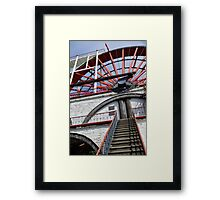 Laxey Wheel Steps Framed Print
