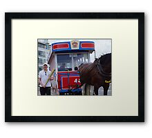 The Olympic Torch Isle of Man Framed Print