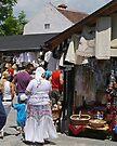 Street market, Bran, Transylvania, Romania by Margaret  Hyde
