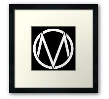 The Maine - Band  Logo White Framed Print