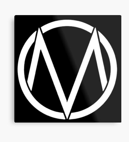 The Maine - Band  Logo White Metal Print
