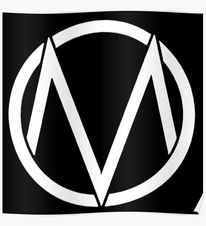 The Maine - Band  Logo White Poster