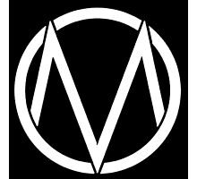 The Maine - Band  Logo White Photographic Print