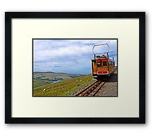 Snaefell Views towards Peel Isle of Man Framed Print