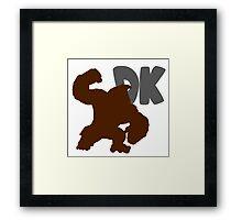 Smash Bros - Donkey Kong Framed Print