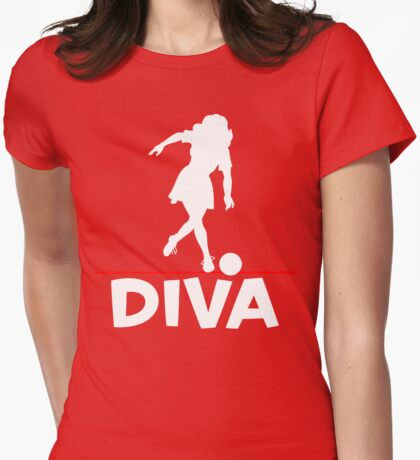 Bowling Diva T-Shirt Womens Fitted T-Shirt