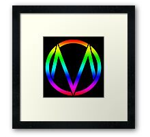 The Maine - Band  Logo Rainbow Framed Print