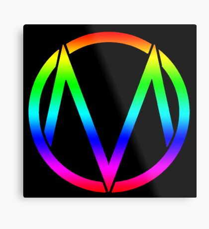 The Maine - Band  Logo Rainbow Metal Print