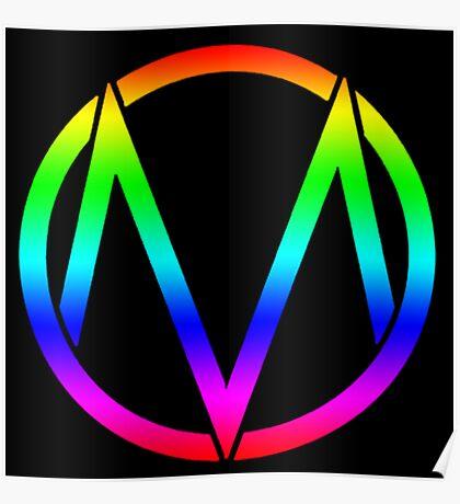 The Maine - Band  Logo Rainbow Poster