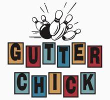 Gutter Chick Bowling T-Shirt by SportsT-Shirts