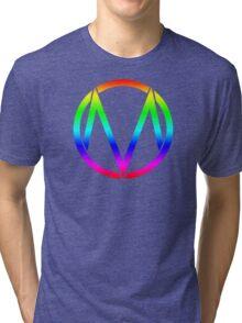 The Maine - Band  Logo Rainbow Tri-blend T-Shirt