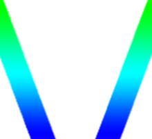 The Maine - Band  Logo Rainbow Sticker