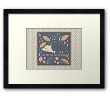 Peaceful Hog  Framed Print