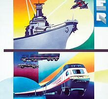 Powerful planes, trains & ships by didielicious