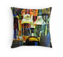 Bottles in the Night Throw Pillow
