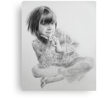 Charlotte, dry brush portrait Canvas Print