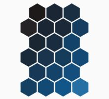 Blue Hexagons Kids Clothes