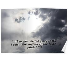 """Isaiah 35:2""  by Carter L. Shepard Poster"