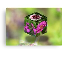 Flower Cube Canvas Print