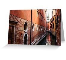 Impressions of Venice – Palaces and Side Canals Greeting Card