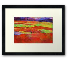 Orange Landscape Framed Print